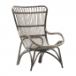 Rattan-Sessel Monet in der Farbe Taupe