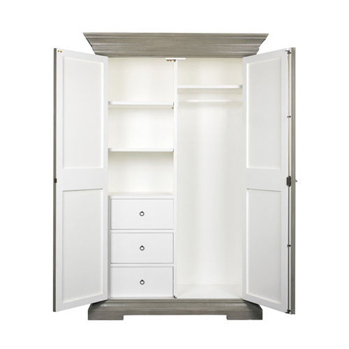 charme de provence kleiderschrank blanc d 39 ivoire. Black Bedroom Furniture Sets. Home Design Ideas
