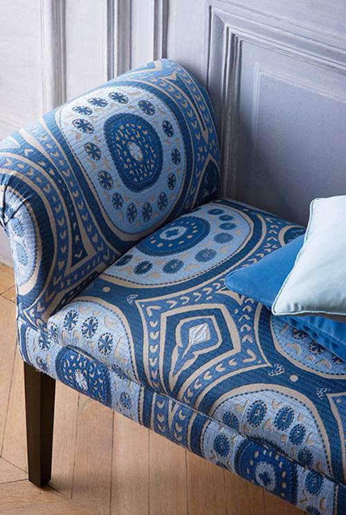 charme de provence kayla bestickte leinenmeterware ciel. Black Bedroom Furniture Sets. Home Design Ideas