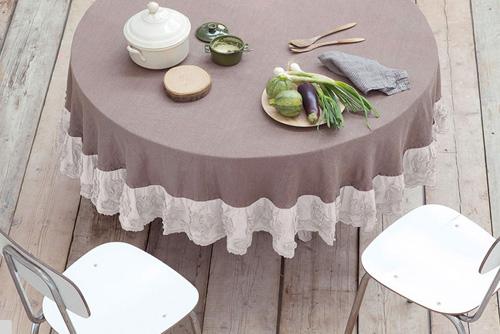 charme de provence leinentischw sche runde tischdecken. Black Bedroom Furniture Sets. Home Design Ideas