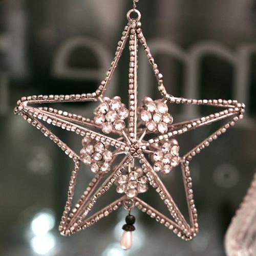 charme de provence weihnachtsstern mit perlen. Black Bedroom Furniture Sets. Home Design Ideas