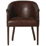 Lederstuhl Donney aus Vintageleder in darkbrown