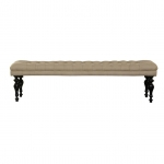 Harry - Footstool - long mit Buttons von Flamant
