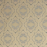 Purcell - bestickte Leinenmeterware - von Colefax and Fowler - Blue & Natural