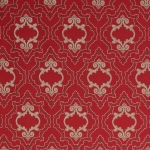 Purcell - bestickte Leinenmeterware - von Colefax and Fowler - Red